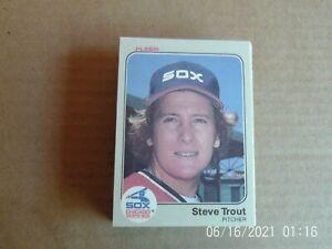 Vintage lot (57) 1980-85 Chicago White Sox baseball cards