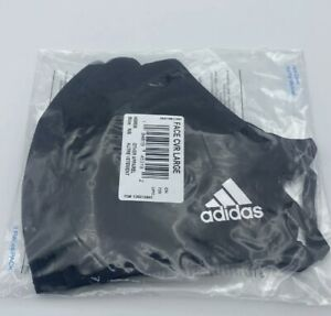 Adidas Face Mask  Authentic  Adult 3 Pack M/L Black Washable Sealed Fast Mailing
