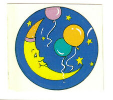 Vintage 80's Neon Man in the Moon with Balloons Sticker
