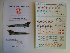 """Linden Hill decals 1/72 MiG-21 """"Millenium MiGs"""""""