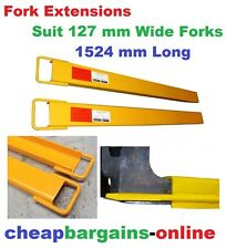 Fork Extensions Pair Heavy Duty Forklift Tines Extensions Slippers 1524mm Long