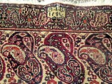 Antique Persian Khorassan Oriental Rug Paisley Design Signed & Dated 1880 Rare