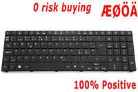 For Acer Aspire 5810 8935 8940 8940G 8942 8942G Keyboard Nordic Swedish Backlit