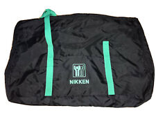 "NIKKEN Kenko Pad Demo Kit Zippered XL Bag Case Black & Green Straps 41""x26""x7.5"""