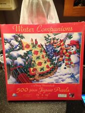 """Winter Companions Jigsaw Puzzle Nancy Wernersbach 500 Pieces 13""""x19"""" Sealed Rare"""