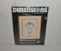 """NOS 1984 Dimensions Counted Cross Stitch Kit """"Love Endures"""" 3581"""