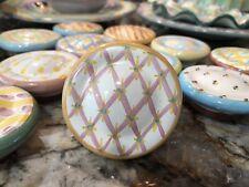 New Listing1 Mackenzie-Childs Handpainted Pottery Drawer Pulls/Knobs Majolica. Rare.