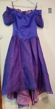 Juniors Womens purple vintage prom fairytale princess dress haloween costume 80s
