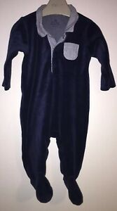 Boys Age 0-3 Months - Next 2017 - Soft Velour All In One - Outfit/Romper