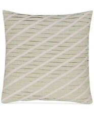 "Hotel Collection Rosequartz 18"" Embroidered Geo Linen Decorative Pillow  Natural"
