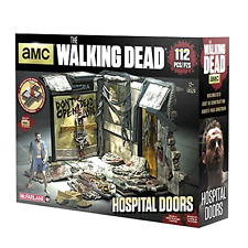 NEW Construction Sets The Walking Dead TV Hospital Doors McFarlane Toys Play Set
