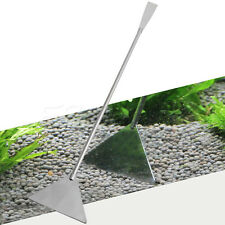 Stainless Steel Aquarium Tank Cleaner Scraper Tool Gravel Leveler Sand Bulldozer