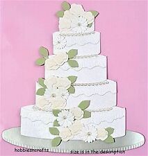 EK SUCCESS JOLEE'S BY YOU 3-D STICKERS  MARRIAGE LARGE WEDDING CAKE & FLOWERS