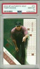 Tiger Woods 2003 Upper Deck SP Authentic Winners Scorecard #/3499 PSA 10 *POP14*