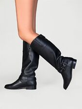 DOLCE VITA Channy Womens Knee High Black Leather Equestrian Riding Boot 7.5