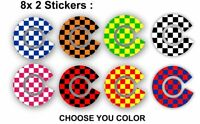 8x sticker decals labels bowls crown finger thumb crown bowling