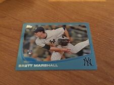 2013 Topps Update Walmart Blue Border Brett Marshall U51 Rookie Card Yankees