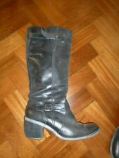 Hush puppies black knee high boots high heel size 8 wide