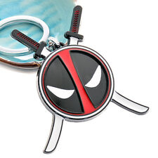Deadpool Keychain Marvel Comics Alloy Metal Pendant Key Ring Chain Gifts For Boy