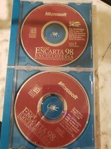 MICROSOFT ENCARTA 98  ENCYCLOPEDIA 2 CDS FOR WINDOWS NT 95