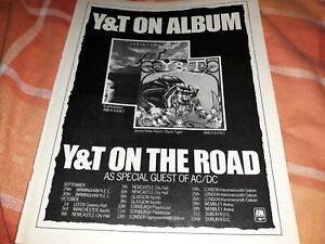 Y&T Black Tiger poster advert & tour dates 1982 / The Who interview