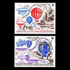 """TAAF 1984 - Manned Flight """"Airships & Balloons"""" Aviation - Sc C81/2 MNH"""