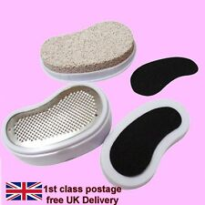 New 3 In 1 Pedicure Set, Emery Smoother Callus Remover Pumice Stone Buffer Feet