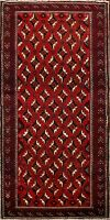 Tribal Geometric Balouch Afghan Oriental 7 ft Runner Rug Hand-Knotted Carpet 3x7