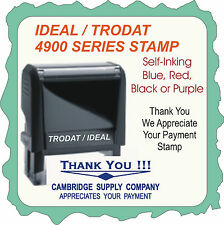 Thank You! For Your Payment w/ Business Name, Trodat Self Ink Stamp 4900 Series