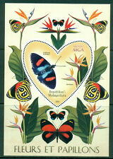 Butterflies Orchids Schmetterlinge Papillons Madagascar MNH stamp set of 6 s/s
