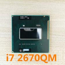 Intel Core i7-2670QM CPU 4 Cores 2.2GHz 6M SR02N Socket G2 Notebook Processor