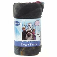 "Disney Frozen Twin Soft Plush Bed Bedding Fleece Throw Blanket 46x60"" Olaf Anna"