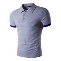 da uomo casual sport Maglia Polo Polo t-shirt estate GOLF Camicia a manica corta