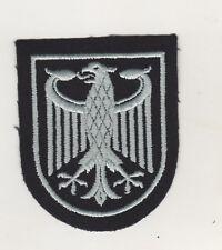 Uniform Aufnäher Patches Bundesadler Schwarz/Silber gestickt wohl Bundeswehr