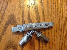 Electric guitar bridge chrome. TOM. Type...vintage replacement...NEW!