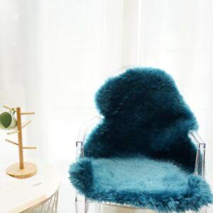 60x80cm 9 colors Australian Sheepskin Rug Natural Fur High&Low Pile Cushion