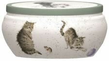 Royal Worcester Wrendale Fragrance Warm and Whimsical Cat and Mouse Tin Candle