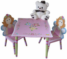 BNIB Girls Pink Fairy Theme Table and Chair Set Kids Room Furniture