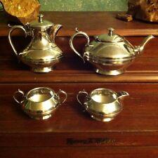Antique English Silver Plated Tea Set 4 James Dixon Sons c1880 Trumpet Sheffield