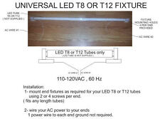 Led fixture fits most T8 & T12 tubes and most lengths 300 600 900 1200 1500