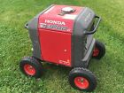 Wheel Kit for Honda Generator EU3000is - SOLID NEVER FLAT TIRES -RED COLOR