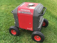 Honda Generator Wheel Kit for EU3000is-NEVER FLAT TIRES -All Terrain!!-RED COLOR