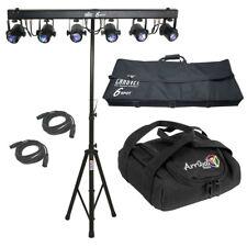 Spot Dance Floor LED Color Chauvet DJ Light Dmx Cables & Tripod Stand Arriba Bag