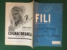 FILI n.47/1937 Ed. DOMUS Rivista Magazine DEI LAVORI D'AGO cucito ricamo moda