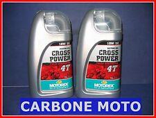 2 LITRI OLIO MOTOREX CROSS POWER 10W50 4T 100% SINTETICO CONSIGLIATO KTM