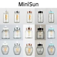 MiniSun Vintage Retro Easy Fit Glass Jar Ceiling Light Pendant Shade Lampshade