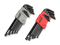 TEKTON 25282 Long Arm Ball End Hex Key Wrench Set, Inch/Metric, 26-Piece