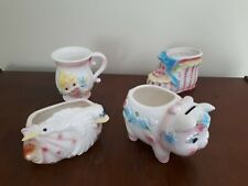 Vintage Lot of 4 Relpo Baby Planters Collectables