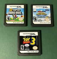 Genuine Nintendo DS Lot New Super Mario Bros. Mario Sonic Olympic Winter Games