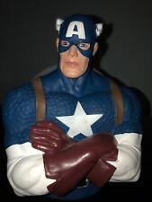Marvel* Avengers Captain America Bust Coin Bank Figure Piggy Bank